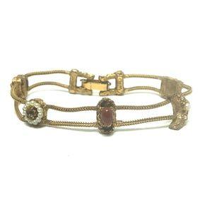 Victorian Revival 5 Charm Sun Moon Heart Bracelet